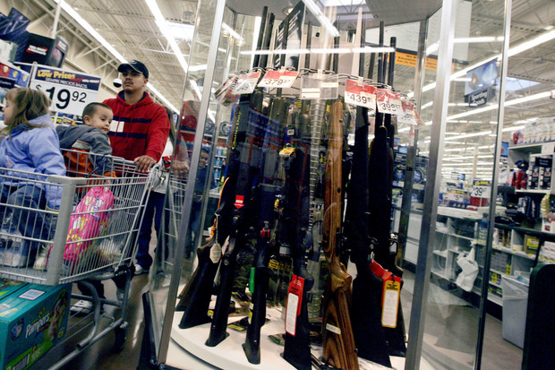Guns for Sale at a Wal-Mart Store - United States
