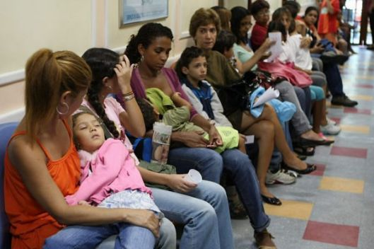 Waiting for medical assistance at a public medical center in Brazil
