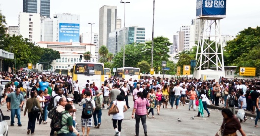 Bus Strike in Rio de Janeiro - Brazil - March 2013