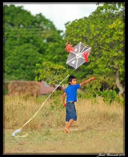Kite Flying at Eater in Guyana