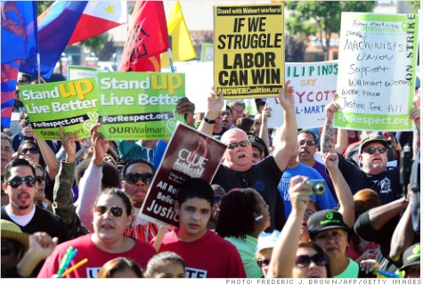 Wal-Mart Workers on Strike - December 2012
