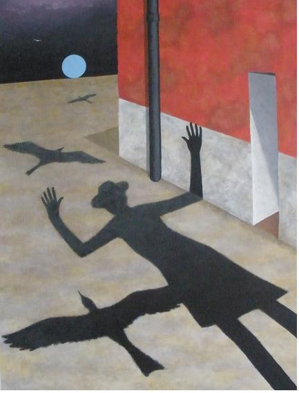 Ground Birds - Shadows Series - Stanley Greaves
