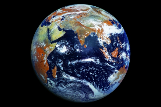 Earth taken by Russian weather satellite
