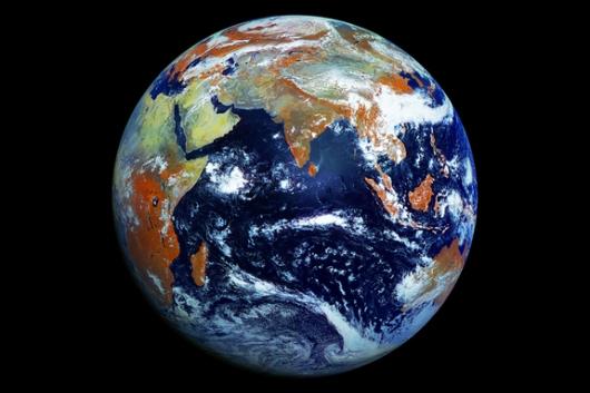 Earth taken by Russian weather satellite