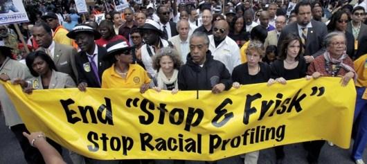 Stop Racial Profiling - Demonstrators in New York City - June 2012