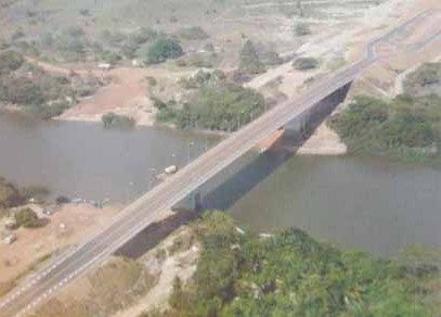 Takutu Bridge linking Guyana and Brazil