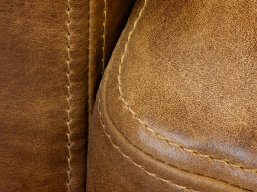 Stitching on Leather Chair