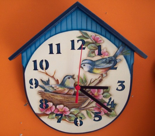 Wall Clock with Birds