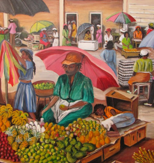 Market Vendor - Painting by Guyana-born Artist Joan Bryan-Muss