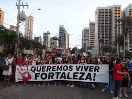 Manifestation against Violence in Fortaleza - Ceara - Brazil