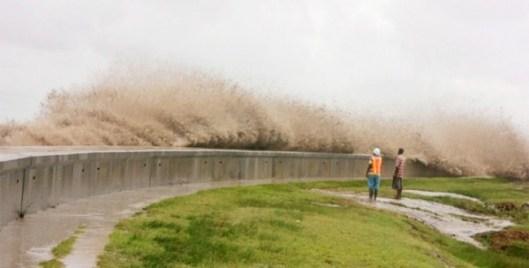 High Tide at the Seawall - East Coast Demerara - Guyana