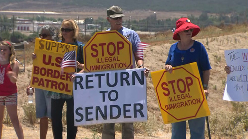 American Protesters in Murrieta