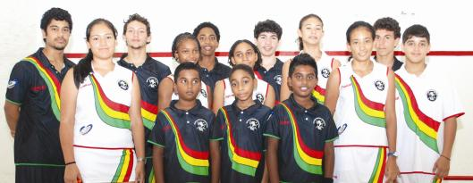 Guyana National Junior Squash Team - August 2012