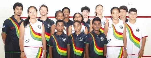 Guyana National Junior Squash Team - August 2012