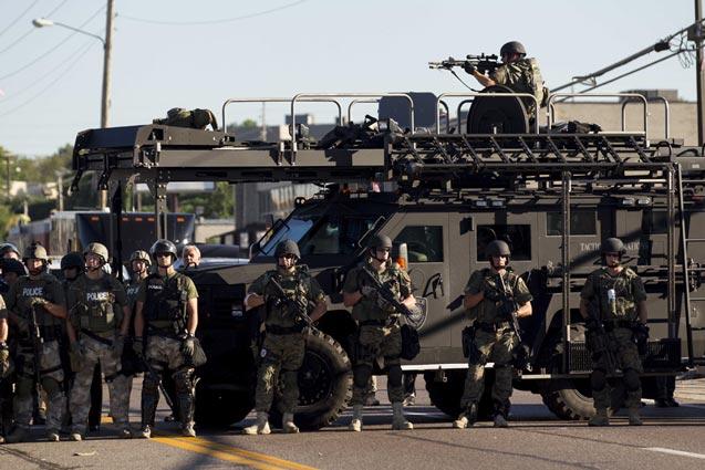 Armored Police - Ferguson Missouri - 13 August 2014