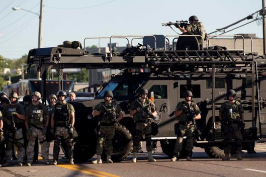 Armored Police - Ferguson Missouri - 13 August 2014