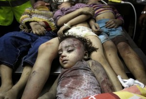 Dead Palestinian Children - Gaza - July 2014