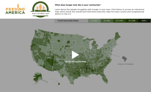 Feeding America - Map the Meal Gap - Food Insecurity in Your County