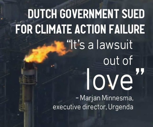 Dutch government sued for climate action failure