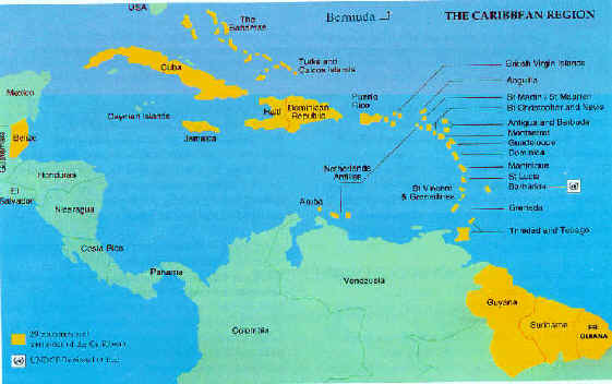 Map CARICOM Member States