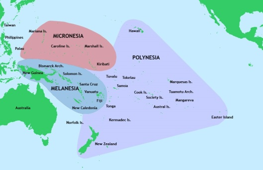 Map of Western Pacific Ocean