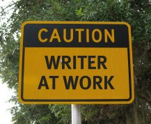 Caution Writer at Work