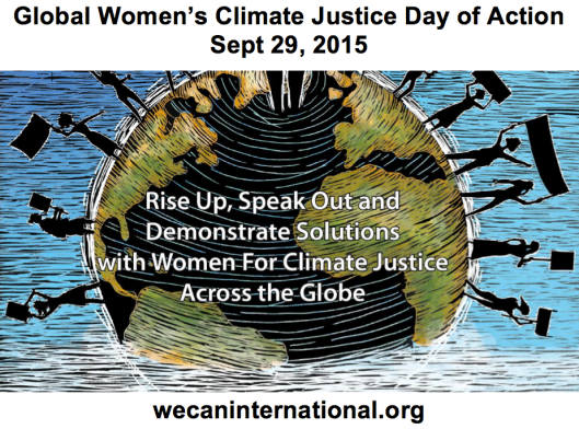 Global Women's Climate Justice Day of Action - 29 September 2015