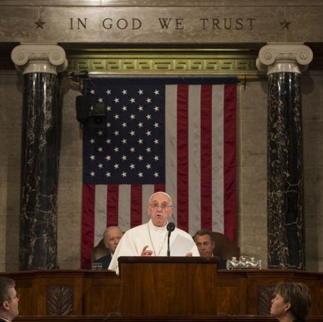 Pope Francis addresses United States Congress - Washington DC - 24 September 2015