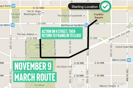 Our Generation Our Choice Mobilization 9 November 2015 - March Route