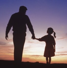 Father-and-Daughter-Silhouette