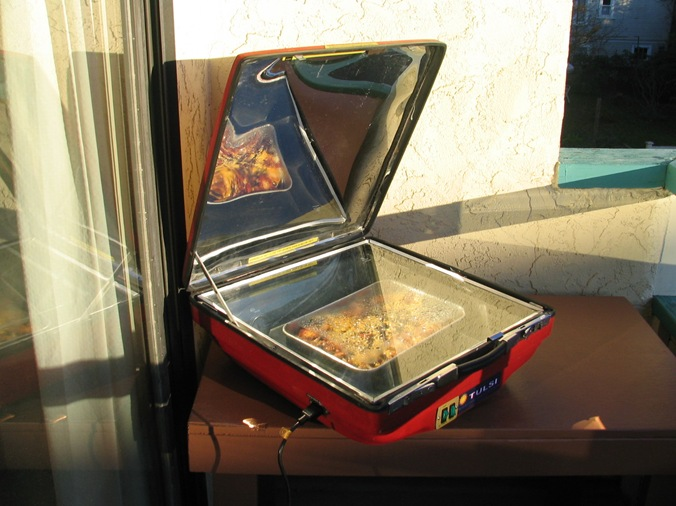 Solar Electric Hybrid Cooker - bruce witzel photo
