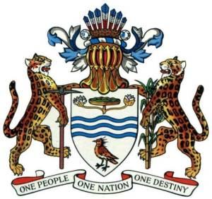 Guyana Coat-of-Arms with National Motto