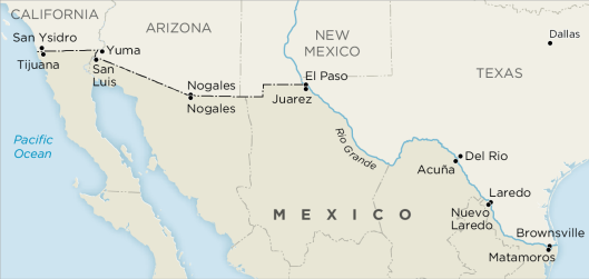 the cross border relations between california texas and mexico How a border wall would hurt the us and entrepreneurs who cross the border each consider a few facts about the us-mexico relationship that never make their.