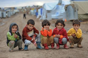 Syrian Children Refugees - Domiz Refugee Camp - Northern Iraq