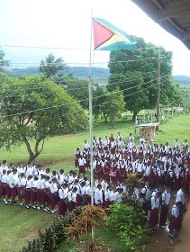 Mabaruma Secondary School Morning Assembly