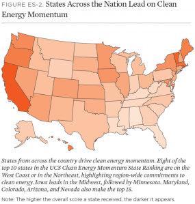UCS - Clean Energy Momentum - Ranking by State
