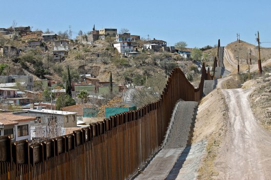 Border Wall Nogales Mexico Arizona USA