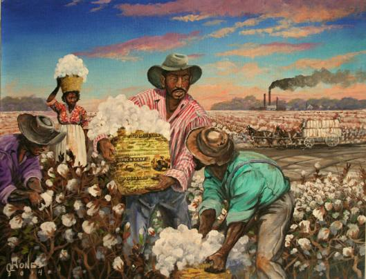 Georgia Slaves II from The Color of Money Collection by African American Painter John W Jones.jpg