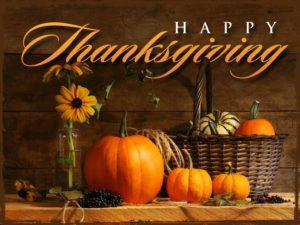 Happy Thanksgiving 2017