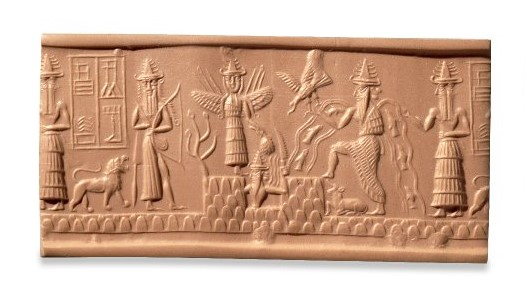 Mesopotamian deities on the Adda Seal