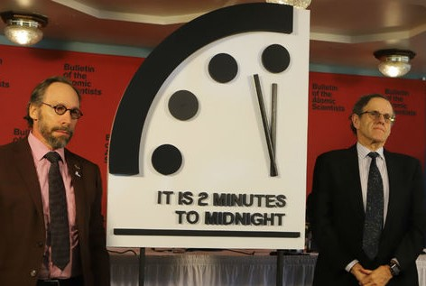 Doomsday Clock updated to two minutes to midnight - 25 January 2018