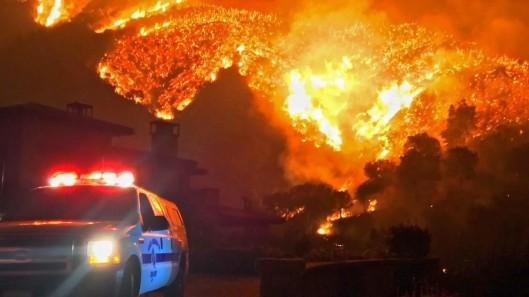 Thomas Fire - Santa Barbara County - Southern California - 12 December 2017