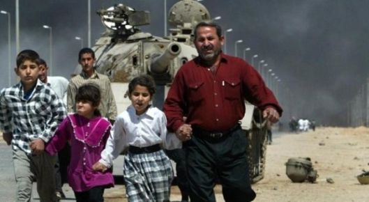2003 Iraq War - Iraqi Family Under Siege