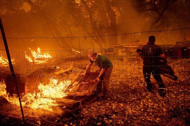 Mendocino Complex Fire August 2018 - Northern California - USA