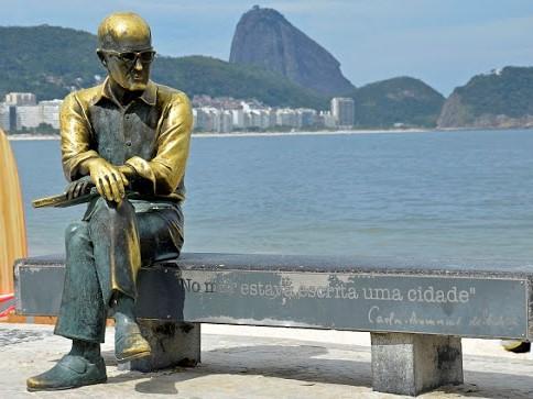 Statue of Carlos Drummond de Andrade - Copacabana - Rio de Janeiro