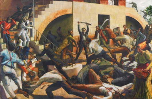 Morant Bay Rebellion - Storming of the Courthouse - Jamaica 1865